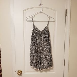 Aeropostale Black and White Patterned Romper